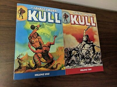 The Savage Sword of Kull Volumes 1 and 2 Conan Dark Horse Comics TPB  New