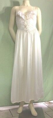 Vintage Maidenform Nightgown Petite White Lacy Bustier