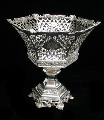 "Fabulous American 1913 Whiting Sterling Silver 10"" Basket"