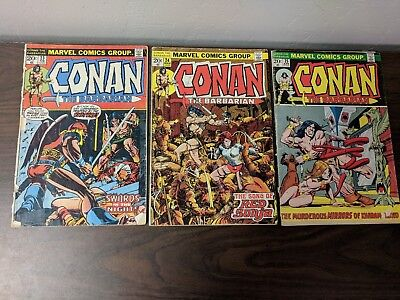Conan the Barbarian #23 #24 #25 First appearance of Red Sonja