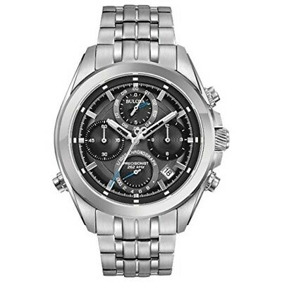 Bulova Men's Quartz Stainless Steel Casual Watch, Color:Silver-Toned (Model: 96B