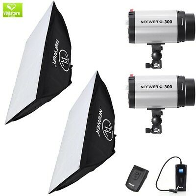 Neewer 600W(300W x 2) 5600K Photography Studio Flash Strobe Light Lighting Kit w