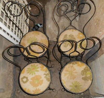 4 twisted wire iron Ice Cream Parlor Chairs