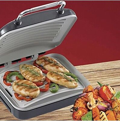 Hairy Bikers 1500W Ceramic Health Grill And Panini Press With Griddle Drip Tray