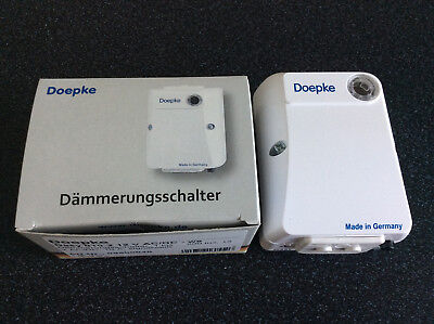 Doepke Twilight switches, 1 lux ... 200 lux, 12 V AC/DC, 10 A, signal white