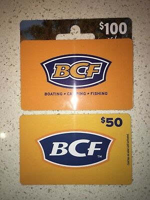 BCF gift cards - $150 value