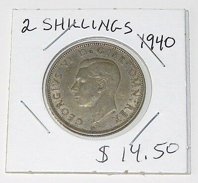 1940 Great Britain Two Shillings Coin