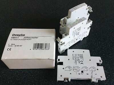 Doepke Auxiliary switch for HS 20 (4-pole)/HS 25/HS 40/HS 63, 1 NC/1 NO