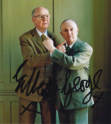 Gilbert & George (1942/43) original sign. portrait photo 20x22cm / autograph