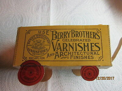 "ANTIQUE ""BERRY BROTHERS VARNISH"" CARDBOARD ADVERTISING WAGON (ROBERT GAIR Co.)"