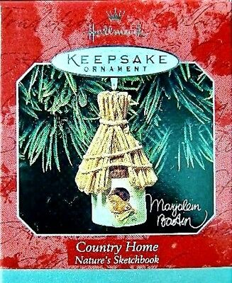 "Hallmark Birdhouse Ornament Marjolein Bastin ""COUNTRY HOME"" Nature's Sketchbook"