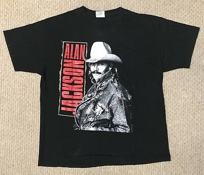 Vintage Alan Jackson Graphic Tee By Hanes Mens Size Xl Made In Usa