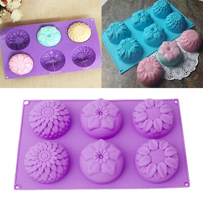 Silicone Cake Decorating Moulds Candy Cookie Chocolate Baking Ice Cube Mold