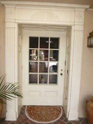 Phyllis Diller Entry Door, Screen and Millwork Surround - Antique Vintage 1914