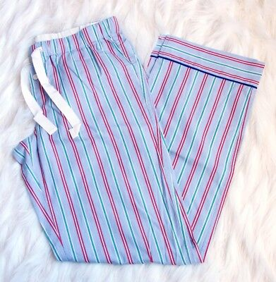 J.CREW Candy stripe pajama pant XS X-Small PJ H2340 Lounge Sleep Blue Green NEW