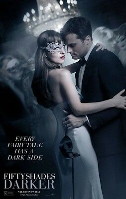 FIFTY SHADES DARKER MOVIE POSTER 2 Sided ORIGINAL Ver B 27x40 DAKOTA JOHNSON