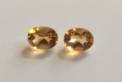 1 PC OVAL CUT SHAPE NATURAL CITRINE 9x7MM FACETED LOOSE GEMSTONE