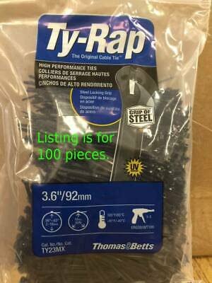"Thomas & Betts Ty Raps Ty23Mx 4"" 18# Cable Tie  Stainless Lock 100 Pc Pack"