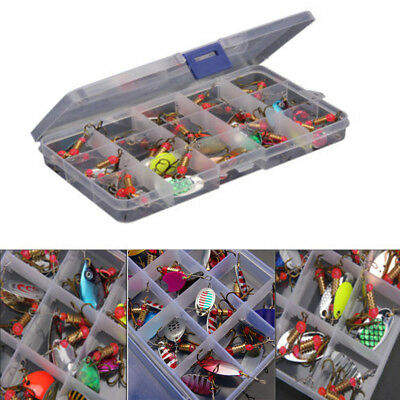 Lot 30pcs  Colorful Trout Spoon Metal Fishing Lures Spinner Baits Bass Tackle
