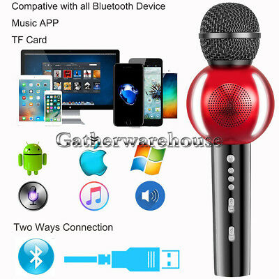 Karaoke Microphone Bluetooth Speaker Wireless Handheld Mic for iPhone Samsung LG