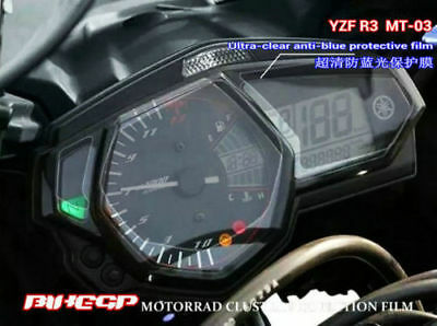 Motorcycle Ultra-clear Anti-blue Cluster Protective Film For Yamaha YZF-R3 MT-03
