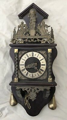 Great Collectable Vintage Wooden Wall Mantle  Clock German