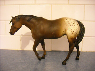 Vintage Breyer Indian Pony Dark Bay Splash Appaloosa Chalky ? Horse Model 73-85