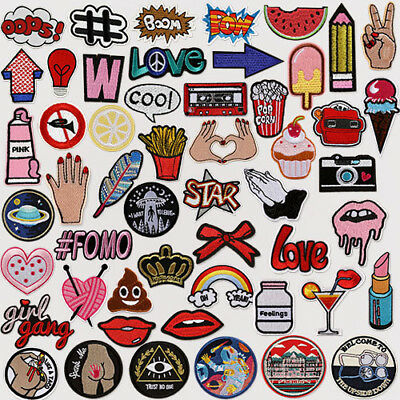 Embroidered Patch Clothes Badge Bag Jacket Applique Iron On Patch