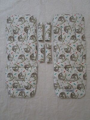 Mountain buggy duet pram liners set-Jungle indian sloth-Includes 2 liners.