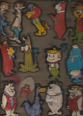 Hanna Barbera Group Of 14 Puffy Magnets-Characters From The Jetsons, Flintstones