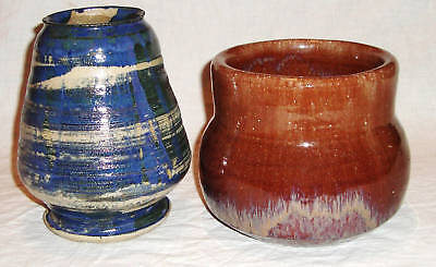 2 Beautiful Vintage Studio Pottery Vases