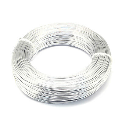 300yds/Roll Silver Tone Aluminum Wires Round Tiny Metal Strings Craft 0.5~0.6mm