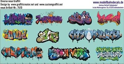 Graffiti-Set 4, Design by Customgraffiti, 10 bunte Elemente (087-7410)