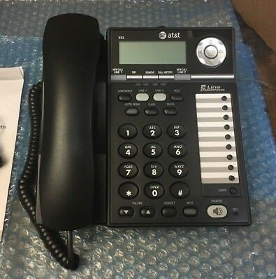 AT&T 2-Line Corded Office/Business Phones 993 No Adapter
