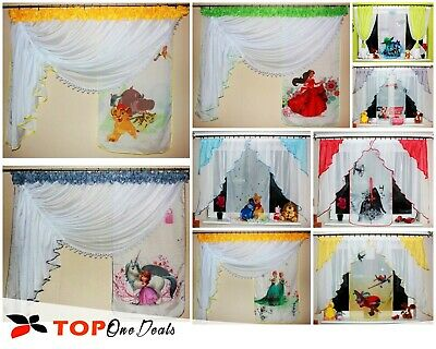 Amazing Children Voile Curtains For Kids Boys Girls Printed Disney Cars Frozen