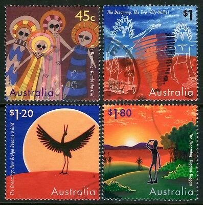 Australia 1997 The Dreaming set of 4 Used