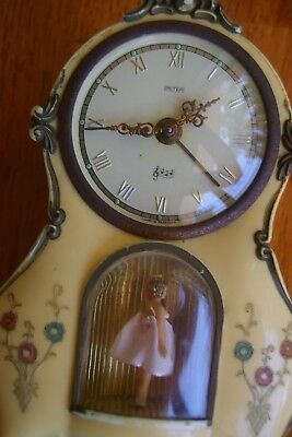 Antique Clock With Music box and Dancer