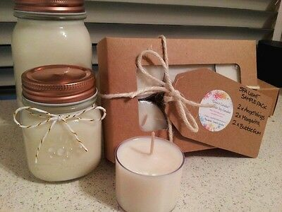 6 x Soy candle SPA TEALIGHTS! Sample Packs [scented/unscented] gr8 gift idea