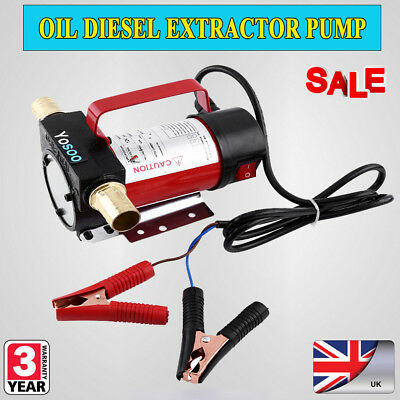 DC 12V Portable Oil Diesel Fluid Transfer Pump Electric Extractor 160W 40L/min