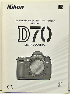 NIKON D70 Instruction Manual Original USER GUIDE  Genuine English