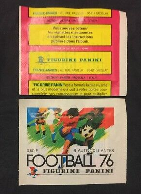 Bustina Pochette Packet Sealed Panini  France Championnat Foot Football 76 1976