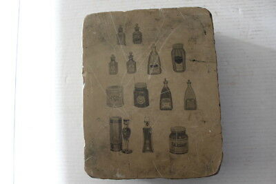 Antique Lithographic Stone Printing Block  2 Sided Litho Somers, Montana