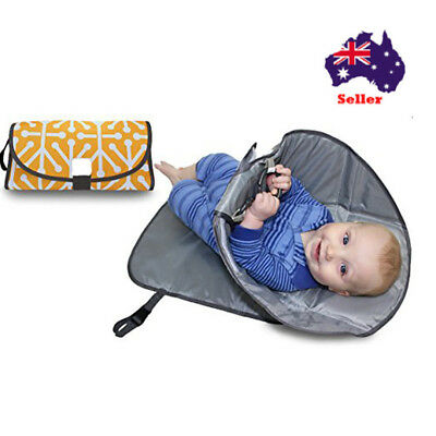 SnoofyBee Portable Clean Hands Changing Pad. 3-in-1 Diaper Clutch
