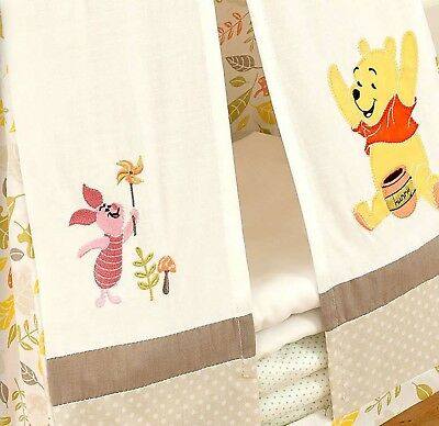 Nursery Nappy Stacker Winnie The Pooh Embroidered Appliqué Cream Yellow Multi