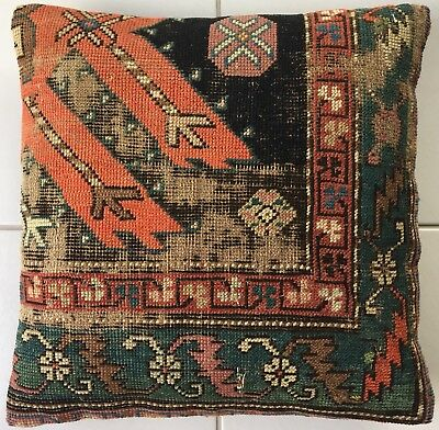Antik Retro Karabagh Teppich Kissen Antique caucasus rug pillow almohada cushion