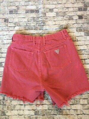 Vintage GUESS by Georges Marciano Super Soft Denim Cut Off Shorts Sz 31 Colored