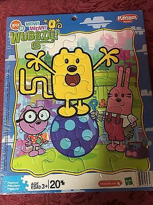 NEW! SEALED! Playskool Hasbro 20 Pc. Frame Tray Puzzle Nick Jr WOW!WOW! WUBBZY!