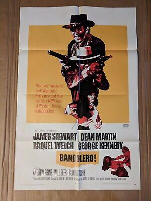 BANDOLERO 1968 ORIGINAL 1-SHEET MOVIE POSTER - Stewart, Martin, Welch, Kennedy