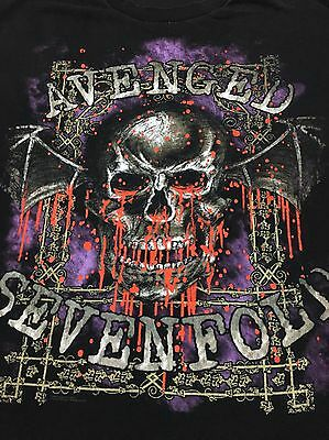 Vintage AVENGED SEVENFOLD T-Shirt Dripping Bloody Skull with Wings XXL : CLEAN!!