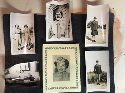 WWII WOMEN WAC Rare ARMY MILITARY WAR HISTORY 1940'S Photos UNIFORMS Portraits